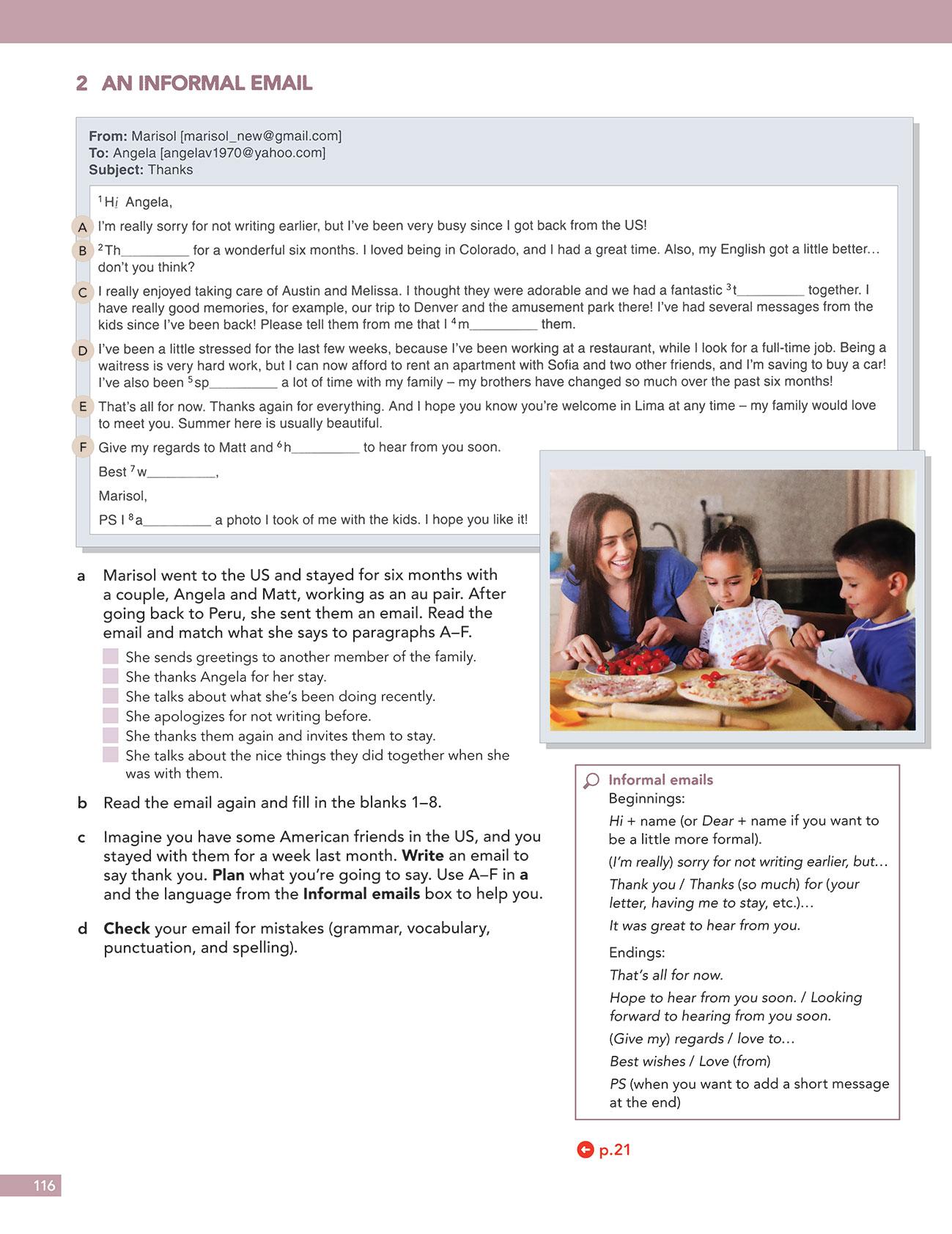 نمونه ای از متن یادگیری گرامر با American English File 3 3rd
