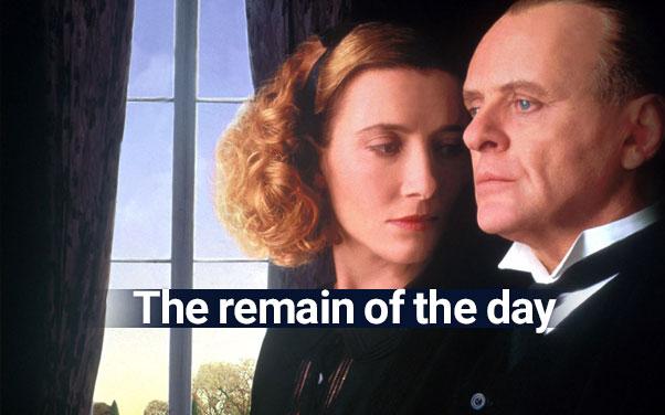 یادگیری زبان انگلیسی با فیلم the remain of the day